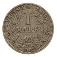 GERMANY - EMPIRE - 1 Mark - 1902 - E - Freiberg - Silver - #DE048 - 1 Mark