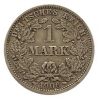 GERMANY - EMPIRE - 1 Mark - 1906 - D - München - Silver - #DE054 - 1 Mark