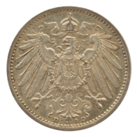GERMANY - EMPIRE - 1 Mark - 1907 - D - München - Silver - #DE057 - 1 Mark