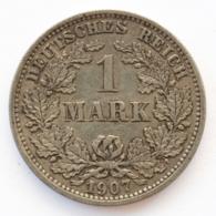 GERMANY - EMPIRE - 1 Mark - 1907 - E - Freiberg - Silver - #DE058 - 1 Mark