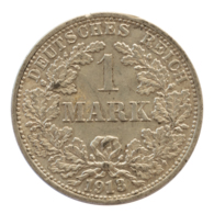 GERMANY - EMPIRE - 1 Mark - 1913 - F - Stuttgart - Silver - #DE065 - [ 2] 1871-1918 : Imperio Alemán