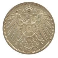 GERMANY - EMPIRE - 1 Mark - 1914 - E - Freiberg - Silver - #DE068 - 1 Mark