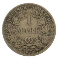 GERMANY - EMPIRE - 1 Mark - 1874 - D - München - Silver - #DE071 - 1 Mark