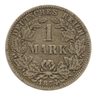 GERMANY - EMPIRE - 1 Mark - 1874 - G - Karlsruhe - Silver - #DE073 - 1 Mark