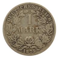 GERMANY - EMPIRE - 1 Mark - 1875 - B - Hannover - Silver - #DE076 - 1 Mark