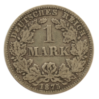 GERMANY - EMPIRE - 1 Mark - 1875 - C - Frankfurt Am Main - Silver - #DE077 - 1 Mark
