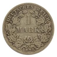 GERMANY - EMPIRE - 1 Mark - 1875 - D - München - Silver - #DE078 - 1 Mark