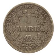 GERMANY - EMPIRE - 1 Mark - 1875 - G - Karlsruhe - Silver - #DE081 - 1 Mark