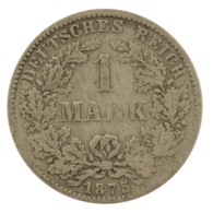 GERMANY - EMPIRE - 1 Mark - 1875 - H - Darmstadt - Silver - #DE082 - 1 Mark
