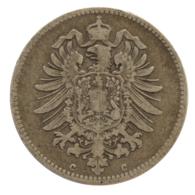 GERMANY - EMPIRE - 1 Mark - 1876 - C - Frankfurt Am Main - Silver - #DE085 - 1 Mark