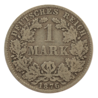 GERMANY - EMPIRE - 1 Mark - 1876 - D - München - Silver - #DE086 - 1 Mark