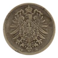 GERMANY - EMPIRE - 1 Mark - 1878 - B - Hannover - Silver - #DE087 - 1 Mark