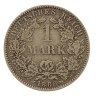GERMANY - EMPIRE - 1 Mark - 1880 - H - Darmstadt - Silver - #DE089 - 1 Mark