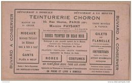 BUVARD 1900  TEINTURERIE CHORON  à PARIS - Vestiario & Tessile
