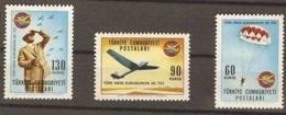 1965 TURKEY 40TH ANNIVERSARY OF TURKISH CIVIL AVIATION LEAGUE MNH ** - Parachutting