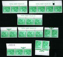 GB 1973 Machin 6p Emerald 2 Band X870 22 Marginal Data MNH - Série 'Machin'