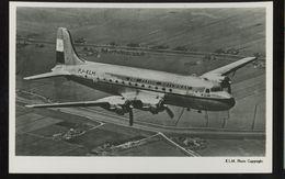 KLM K.L.M Royal Dutch Airlines Douglas Dc-4 Aircraft Lot Of 2 Photo Flying Dutchman Postcard - 1946-....: Ere Moderne