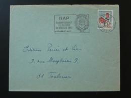 05 Hautes Alpes Gap Championnat Du Monde De Boules 1967 - Flamme Sur Lettre Postmark On Cover - Bocce