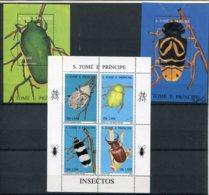 S.Tomé E Principe   Insectes    1264DP/1264DS ** + Blocs 163AL/163AM ** - Insectes