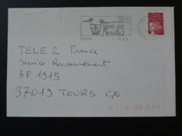 06 Alpes Maritimes Tende Peintures Rupestres Rupestral Paintings 2000 - Flamme Sur Lettre Postmark On Cover - Préhistoire
