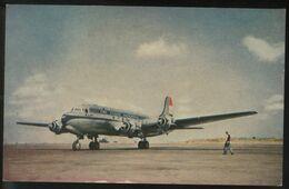 KLM K.L.M Royal Dutch Airlines Douglas Dc-4 Aircraft Rarer View Holland Postcard - 1946-....: Ere Moderne