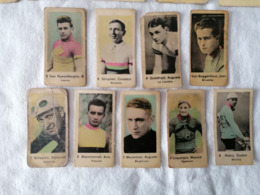 Lot 9 Images Chromos Coureurs Cyclistes Belges Années 30 Chocolat Ou Cigarettes (Essentiellement Belgique) Voir Scan - Other