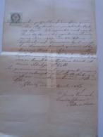 ZA297.14  Old Document  Igló  Spišská Nová Ves - Slovakia - Franciscus Kocsisch -Catharina Hischnay 1869 - Engagement