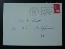 09 Ariège Tarascon Art Rupestre Rupestral Art 1972 - Flamme Sur Lettre Postmark On Cover - Préhistoire