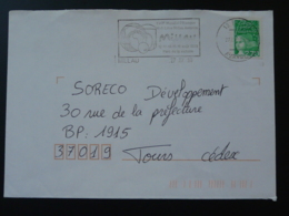 12 Aveyron Millau Mondial Petanque 1998  - Flamme Sur Lettre Postmark On Cover - Bocce