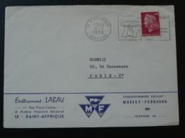 12 Aveyron St Affrique Dolmen Préhistoire Prehistory 1970 (ex 1)- Flamme Sur Lettre Postmark On Cover - Préhistoire