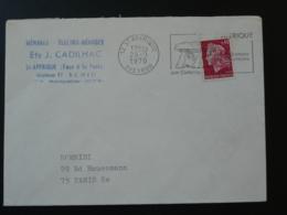 12 Aveyron St Affrique Dolmen Préhistoire Prehistory 1970 (ex 2) - Flamme Sur Lettre Postmark On Cover - Préhistoire