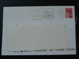 13 Bouches Du Rhone Marignane Helicoptere Helicopter 2004 - Flamme Sur Lettre Postmark On Cover - Hubschrauber