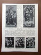 La Pinacoteca Di Brera Borgognone Procaccini Gentile Nicolò Da Foligno Del 1914 - Boeken, Tijdschriften, Stripverhalen