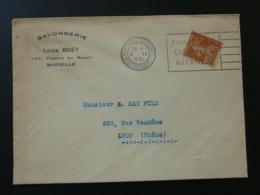 13 Bouches Du Rhone Marseille Cigarettes Gitane Tobacco 1931 - Flamme Sur Lettre Postmark On Cover - Tabak