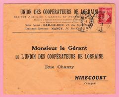 Perf.4  Seumeuse Perforé UCL Union Des Coopérateurs De Lorraine Nancy 20.1.27   Verso= Avec Tâches. - Francia
