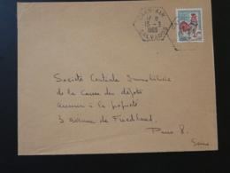 14 Calvados Caen Air Cachet Hexagonal Sur Lettre Postmark On Cover 1965 - Handstempels