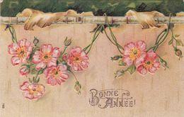 CPA  Gauffrée  BONNE ANNEE - Neujahr