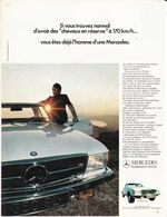 Feuillet De Magazine Mercedes 350 SL 1972 - Cars