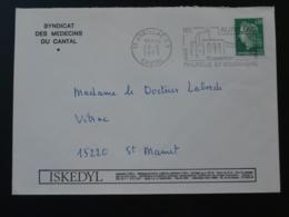 15 Cantal Aurillac Expo Philatélie Et Volcanisme 1973 (ex 2)- Flamme Sur Lettre Postmark On Cover - Volcanos