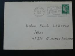15 Cantal Aurillac Expo Philatélie Et Volcanisme 1973 (ex 3) - Flamme Sur Lettre Postmark On Cover - Volcanos