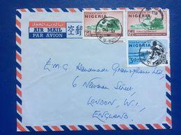 NIGERIA 1960 Air Mail Cover Lagos To London - Nigeria (...-1960)