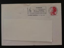 06 Alpes Maritimes Le Cannet Rocheville Festival Marionnette 1988 - Flamme Sur Lettre Postmark On Cover - Marionetas
