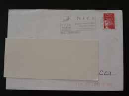 06 Alpes Maritimes Nice St-Barthelemy Yves Klein 2000 - Flamme Sur Lettre Postmark On Cover - Modernos