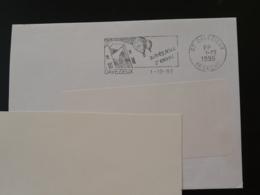 07 Ardèche Davezieux Montgolfière 1995 Port Paye PP - Flamme Sur Lettre Postmark On Cover - Airships