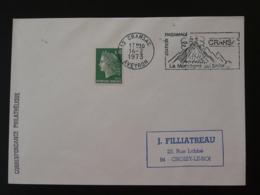 12 Aveyron Cransac Volcan Volcano 1973  - Flamme Sur Lettre Postmark On Cover - Volcanos