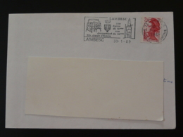 13 Bouches Du Rhone Lambesc Jacquemard 1989 - Flamme Sur Lettre Postmark On Cover - Clocks