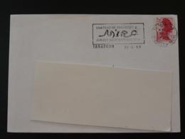 13 Bouches Du Rhone Tarascon Exposition Miro 1988 - Flamme Sur Lettre Postmark On Cover - Modernos