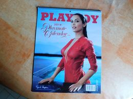 Calendrier Original Playboy 2014, Signature Des Modèles, 28x36cm    (Box5) - Erotica (...-1960)