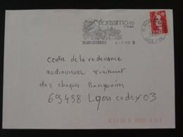 21 Cote D'Or Dijon Toucan Florissimo 1993 (ex 2) - Flamme Sur Lettre Postmark On Cover - Papageien