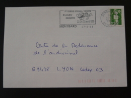 21 Cote D'Or Montbard Tournoi Rugby 1993 (ex 1) - Flamme Sur Lettre Postmark On Cover - Rugby